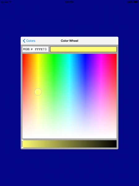 DRColorPicker color picker Screenshot